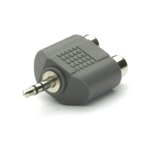 33702_VIVANCO PB550 AUDIO ADAPTER 3.5mm TO 2X RCA black