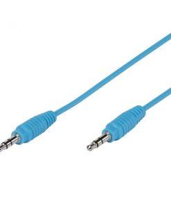 35812_VIVANCO PBVV35C CABLE 3.5mm JACK TO 3.5mm JACK 1m blue