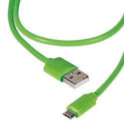 36254_VIVANCO DCVVMCUSB12GR DATA CABLE MICRO USB 1.2m green