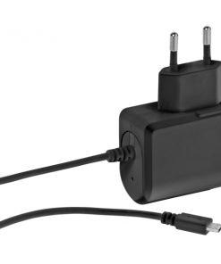 37547_VIVANCO TRAVEL CHARGER MICRO USB FIXED 2.4A black