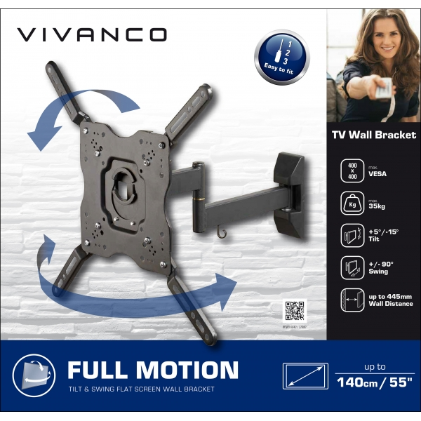 37980_VIVANCO BFMO 6040 TV WALL MOUNT FULL MOTION VESA 400