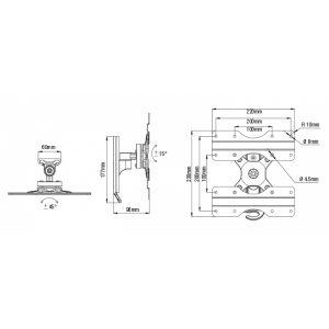 37984_VIVANCO BTI8020 TV WALL MOUNT TILT VESA 400