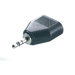 46064_VIVANCO AUDIO ADAPTER 3.5mm JACK TO 2X 3.5mm JACK black