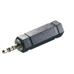 46065_VIVANCO AUDIO ADAPTER 6.5mm JACK TO 3.5mm JACK black