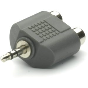 46509_VIVANCO AUDIO ADAPTER 3.5mm PLUG TO 2X RCA SOCKET black