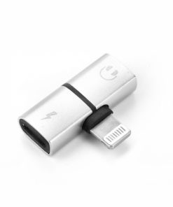 ADAPLIGJACCHAR_ADAPTER LIGHTNING TO LIGHTNING CHARGING + AUDIO silver