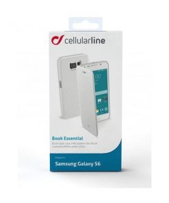 BOOKESSENGLS6W_CELLULARLINE BOOK ESSENTIAL SAMSUNG S6 white