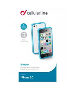 BUMPERIPH5CB_CELLULARLINE BUMPER IPHONE 5C blue backcover