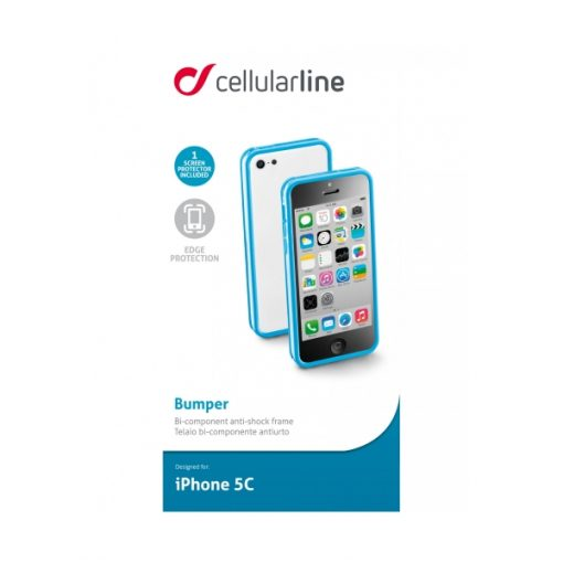 BUMPERIPH5CB_CELLULARLINE BUMPER IPHONE 5C blue backcover