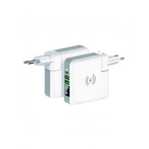 BXBA6700CDW_Ksix TRAVEL CHARGER 4in1 POWERBANK + INTERNATIONAL CHARGING white