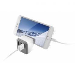 BXCDIC3_KSIX 3 USB WALL CHARGER 3.4A WITH HOLDER  white