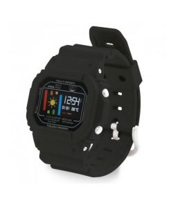 BXSWRN_Ksix SMART BAND RETRO WITH 24 H HEART RATE MONITOR black