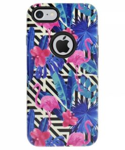 CFIP7A_4OK CASE FLAMINGO IPHONE 7 blue backcover
