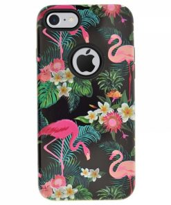 CFIP8D_4OK FLAMINGO IPHONE 8 black backcover