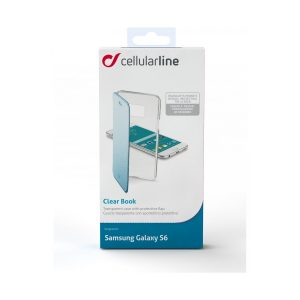 CLEARBOOKGLS6B_CELLULARLINE CLEAR BOOK SAMSUNG S6 blue trans