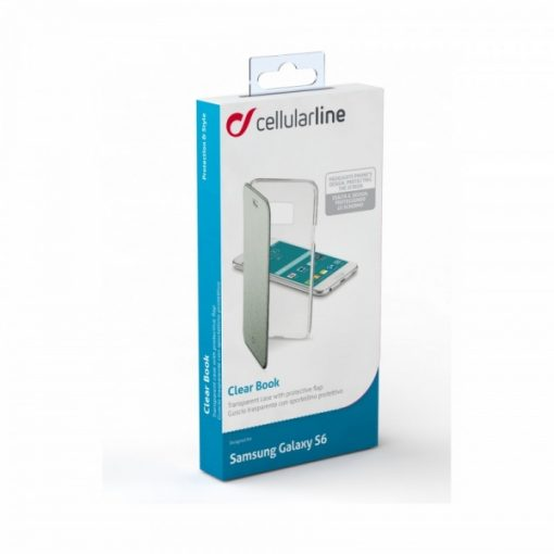 CLEARBOOKGLS6G_CELLULARLINE CLEAR BOOK SAMSUNG S6 green trans