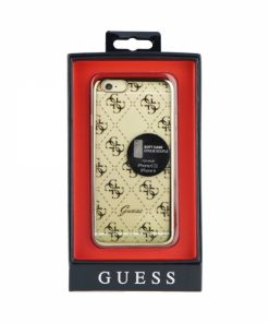 GUHCP6TR4GG_GUESS FACEPLATE IPHONE 6 gold trans backcover
