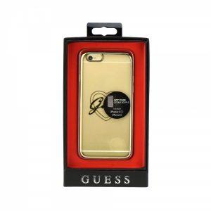 GUHCP6TRHG_GUESS FACEPLATE CASE TPU TRANSPARENT GOLD IPHONE 6