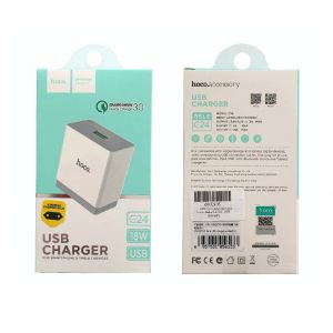 HCC24W_HOCO TRAVEL CHARGER QUALCOMM 3 3A white