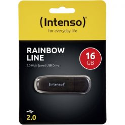 INTUSBR16_MEMORY USB STICK INTENSO 16GB RAINBOW LINE black