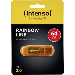INTUSBR64_MEMORY USB STICK INTENSO 64GB USB 2.0 RAINBOW LINE orange