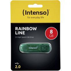 INTUSBR8_MEMORY USB STICK INTENSO 8GB RAINBOW LINE green