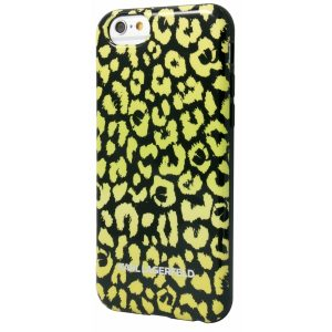 KARL0015_KARL LAGERFELD IPHONE 6 6s KAMOUFLAGE yellow backcover