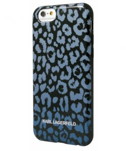 KARL0027_KARL LAGERFELD IPHONE 5 5s KAMOUFLAGE blue backcover