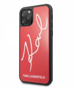 KLHCN65DLKSRE_KARL LAGERFELD IPHONE 11 PRO MAX SIGNATURE red backcover