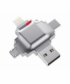 MCDISKKR004_IDISK MEMORY CARD READER MFi  ALL IN ONE R004 silver