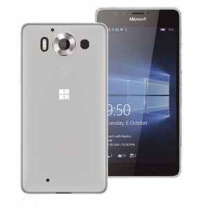 ML950GPW_PHONIX TPU + SCREEN PROTECTOR NOKIA LUMIA 950 trans backcover outlet