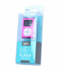 MP3PLEARLCDP_SETTY MP3 PLAYER with LCD + EARPHONES pink