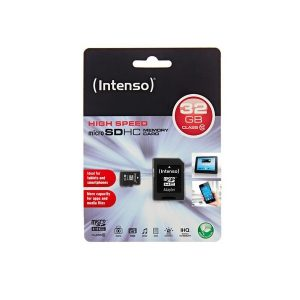 MSDHC32INT10_Memory Card microSD INTENSO 32GB  CLASS 10
