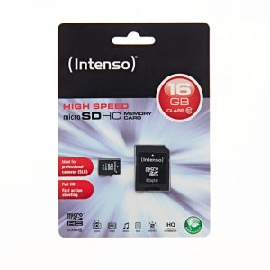 MSDINT16GB_Memory Card microSD INTENSO 16GB CLASS 10