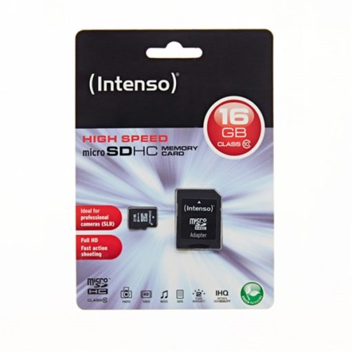 MSDINT16GB_Memory Card microSD INTENSO 16GB CLASS 10