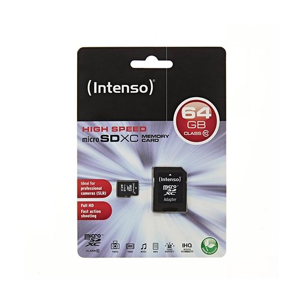 MSDINT64GB_Memory Card microSD INTENSO 64GB CLASS 10