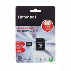 MSDINT8GB_Memory Card microSD INTENSO 8GB CLASS 10