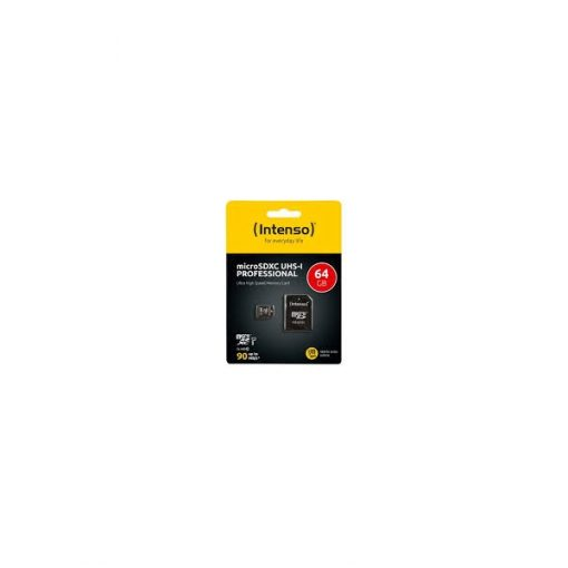 MSDINTP64GB_Memory Card microSD INTENSO PROFESSIONAL 64GB CLASS 10