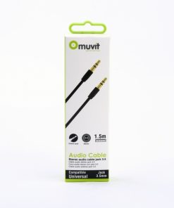 MUAUC0001_MUVIT AUDIO CABLE LINE IN JACK 3.5mm to 3.5mm  1.5m