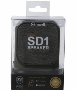 MUSSP0021_MUVIT BLUETOOTH PORTABLE SPEAKER SD1  FABRIC grey