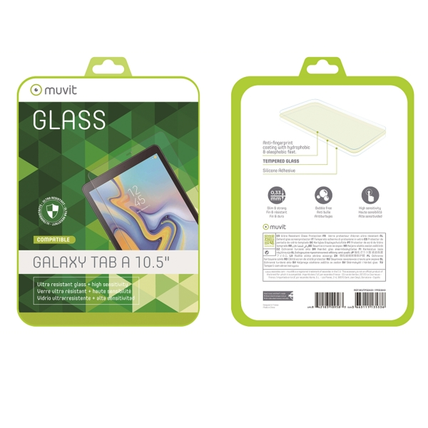 """MUTPG0422_MUVIT TEMPERED GLASS SAMSUNG TAB A 10.5"""""""