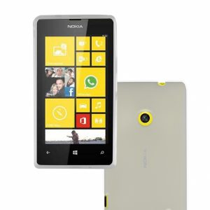NL525GPW_PHONIX TPU + SCREEN PROTECTOR NOKIA LUMIA 525 trans backcover outlet