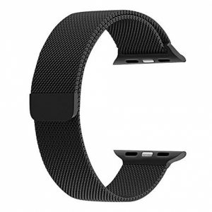 SEBAP5B_SENSO FOR APPLE WATCH 42mm REPLACEMENT STEEL MAGNETIC STRAP black