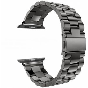 SEBAP6B_SENSO FOR APPLE WATCH 42mm REPLACEMENT STEEL MAGNETIC STRAP black