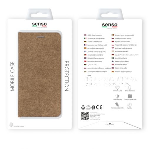 SENFEIP11PG_SENSO FEEL STAND BOOK IPHONE11 PRO (5.8) gold