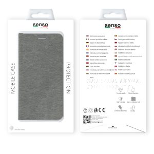 SENFEIP11PS_SENSO FEEL STAND BOOK IPHONE11 PRO (5.8) silver