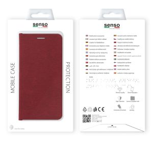 SENFEIPXR_SENSO FEEL STAND BOOK IPHONE X XS red