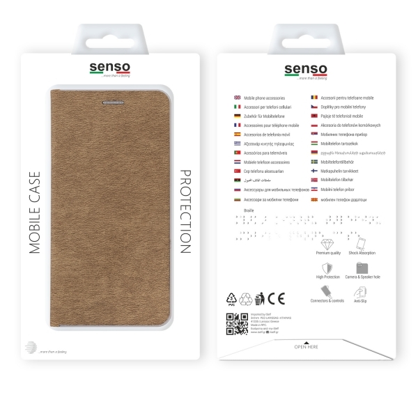 SENFESAMJ6PG_SENSO FEEL STAND BOOK SAMSUNG J6 PLUS 2018 gold