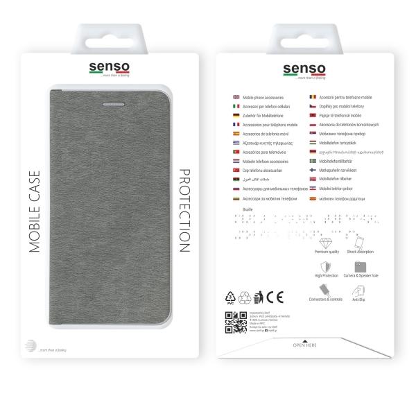 SENFESAMJ6PS_SENSO FEEL STAND BOOK SAMSUNG J6 PLUS 2018 silver