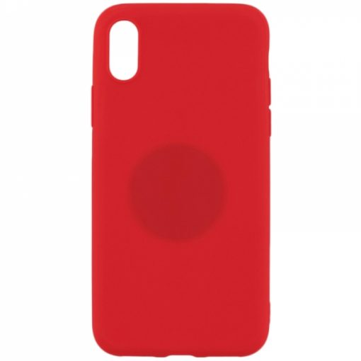 SERIPXR_SENSO RUBBER IPHONE X XS red backcover